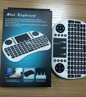 Wholesale Tablet Keyboard Package - Rii Air Mouse Wireless Handheld Keyboard Mini I8 Touchpad Remote Control For MXIII M8 TV BOX Game Play Tablet Mini PC with Retail Package
