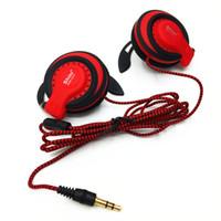 Wholesale Headphone Mdr - Shini MDR Q141 Earphones Extra Bass Headset Turbo Wide Sound Ear Hook DJ Music MP3 MP4 Headphones Outdoor Indoors Headset