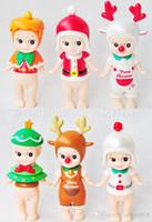 Wholesale Wholesale Kewpie Dolls - Christmas Toys 7cm(3inch) Kewpie Doll Sonny Angel Mini Figure PVC Action Figure Sonny Angel Dolls 6pcs set For Kids Free shipping E1711
