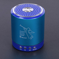 musique ange haut-parleurs bluetooth achat en gros de-Ange T2020A portable sans fil Bluetooth Mini Basse Stéréo Haut-Parleur En Alliage Métallique Soutien TF carte USB Mains Libres HiFi Lecteur de musique dhl gratuit