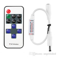 Wholesale Single Color Led Controller Remote - Mini Remote Controller for Single Color LED Strip Lights, RF Dimmer for 12 V DC LED Light Strips, 12A, Wireless Remote Control