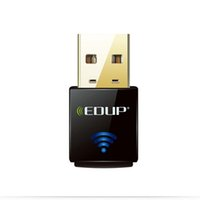 adaptador realtek al por mayor-EDUP EP-N1557 Negro Realtek RTL8192EU 300Mbps Mini USB Lan Wifi Adaptadores de Tarjeta de Red Inalámbrica 50 unids / lote Envío de DHL Gratis