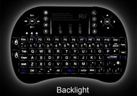 Wholesale Tv Control Universal Mini - 1pcs I8 backlit Fly Air Mouse Mini 2.4GHz Wireless Handheld Keyboard Touchpad Remote Control For universal TV box M8S MXQ MXIII