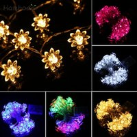 Atacado- MA 28 Shining Hot Selling Fast Shipping LED 4.2M 40LED Lotus Battery Box Lights String Party Wedding Decoration