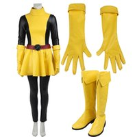 Wholesale Customized Gloves - 2016 New Comics Superhero X-men Sexy Womens Magik Cosplay Costume with Boots and Gloves Halloween Party Customize Any Size