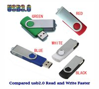 Wholesale High Speed Usb 256 Gb - No Logo 5 Piece High Speed USB3.0 Whirl USB Memory Stick Rotate USB3.0 U Disk Rotatable USB Flash drives