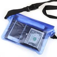 ingrosso casse del telefono 5s-Custodia trasparente per fotocamera cellulare con custodia impermeabile a prova di pvc per iPhone 5S SE con striscia in vita