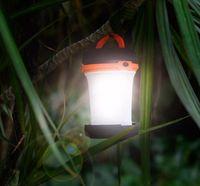 linterna led de batería portátil al por mayor-Linterna de camping Plegable Led Linterna Linterna Con 2x D-ring Clip de llavero, 3 modos, Funciona con pilas, portátil, accionado por agua LLFA