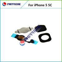 Wholesale Iphone Home Button Cap - Free Shipping White Original Home Menu Button Key Cap + Flex Cable + Bracket Holder + Spacer Set For iPhone 5 5C
