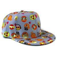 Wholesale Girls Snapbacks Hats - Kids Snapbacks Baseball Hats Baby Cartoon QQ Emoji Caps Children Hip Hop Cap Girls Sport Ball Hat Boys Snapback Gifts New 5colors wholesale