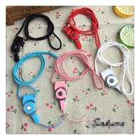 Preço barato Universal Cell Phone Correias ajustáveis ​​Colorful Lanyard Slings para uso do telefone móvel Swivel Key Ring Cell Phone Straps Charms