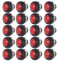 Wholesale Round Push Button Switches - Wholesale-20Pcs Red Mini Round Switch 12mm Waterproof Momentary Push button Switch