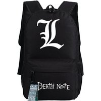 Wholesale Death Note School - Black Death Note backpack L word school bag New quality cartoon day pack Hot sale game daypack
