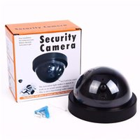 Wholesale Outdoor Dummy Dome Cctv Cameras - Security Camera indoor outdoor Fake Dummy Camera Wireless Dome Surveillance CCTV Camera with Blinking IR LED