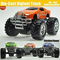 Wholesale Toy Power Trucks - Diecast Alloy Metal Bigfoot Car 1:32 Scale Model Collection Crosscountry Big Wheel Monster Truck Friction Power Toys Car