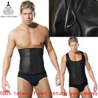 Wholesale Latex Bodysuit For Men - Wholesale-waist training corsets for men hot body shapers waist trainer latex waist cincher body hot shapers bodysuit latex waist trainer