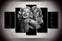 Wholesale Marilyn Monroe Abstract Paintings - Day of the Dead Face canvas wall art painting for home decoration abstract figure painting of Marilyn Monroe