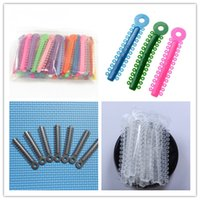 Wholesale Ship Dental Material - 5 Packs ligature ties Dental material Orthodontic Elastics Multi-color Clear-color Sliver Gray color 936pcs per pack New Free Shipping