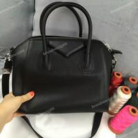 Wholesale Women Mix Handbags - 100% goatskin leather tote bags classic small women antigona totes genuine leather handbags women shoulder bags 0061050 mix colors free