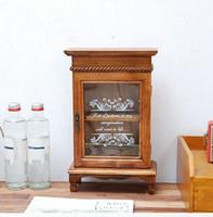 Wholesale Zakka Cabinet - Zakka Size 20*9.5*32cm 2Layers Wooden Storage Bins Sundries Cosmetic Medicine Toys Storage Organization Box,Case,Bins,Cabinets with Door