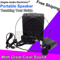 Wholesale Top Quality W Loudspeaker with Microphone Voice Amplifier Booster Megaphone Speaker For Teaching Tour Guide Sales Promotion