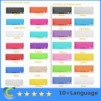 Cheap Waterproof macbook keyboard cover Best Silicone For Apple Keyboard Macbook 13 15 17 keyboard skin cover