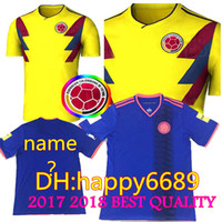 Soccer Men Short NEW National Team Colombia 17 18 Home Soccer Jersey JAMES  FALCAO Soccer Uniform ddcd03370