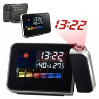цифровая проекция Snooze Alarm Clock LED Display Backlight Weather Station Store 48