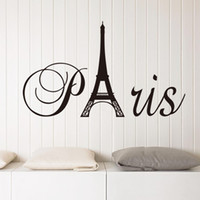 Wholesale posters eiffel tower - Pairs Wall Art Mural Decor Poster Eiffel Tower Wall Decal Sticker Home Decor Wall Applique Pairs Wall Quote Paper Graphic