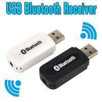 mini hifi para iphone 5s al por mayor-Al por mayor- USB Bluetooth Música Receptor de audio Adaptador 3.5mm Receptor de audio estéreo inalámbrico para altavoz para iPhone 4/5 / 5S / 6 Plus para Samsung