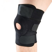 Wholesale Elastic Knee Support Brace Kneepad Adjustable Patella Knee Pads Safety Guard Strap For Basketball Free Size