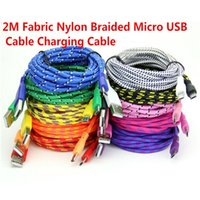 Wholesale Cheap Flip Phones Wholesale - cheap iphone 5 6 cable Braided V8 Micro USB Charger Cable Data Sync Nylon cord for Samsung Blackberry android phone 2M 6FT free shipping