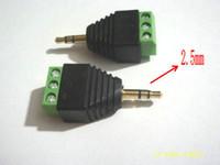 encadernação venda por atacado-Plugue de 100pcs 2.5mm conector de terminal de ligação de terminal de áudio de parafuso estéreo