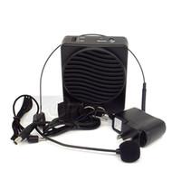 amplifikatör için mikrofonlar toptan satış-Taşınabilir Mini 25 W Kemer Hoparlör Mikrofon Ses Amplifikatör Booster Megafon Hoparlör Öğretim Tur Rehberi Satış Promosyon Için