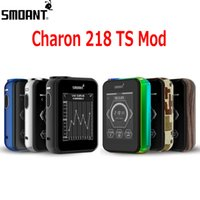 Wholesale Vw Screen - Original Smoant Charon TS 218 Box Mod 218w Vape Ecig Mods VW TC Mode 2.4inch Touch Screen Dual 18650 Cells 100% Genuine DHL 2202022