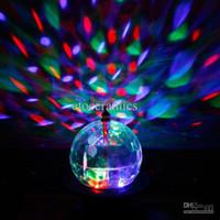 mini bola de cristal mágica girando venda por atacado-20 W Mini Rotating LED RGB Luz de Palco de Cristal Magia Bola Efeito de Luz Disco DJ Partido Iluminação de Palco Frete Grátis