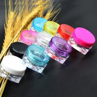 ingrosso 3g pack-FDA Food Grade 3g multicolors crema box bottiglia di crema Dare una piccola scatola di campioni di imballaggio campione cosmetico B0479