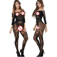 Wholesale Hot Lingerie Sex - Sexy Underwear Costumes Sexy Lingerie intimates Kimono Sex products Hot Bodystockings Open Crotch women Teddies