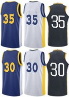 Compra Jersey Del Curry Di Stephen-Warrior Golden State # 35 Kevin Durant # 30 Stephen Curry Embroideried 2017-18 Nuovo stile 100% cucita Jersey di pallacanestro