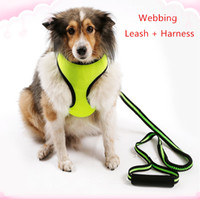 Wholesale New Cat Leash Harness - New Pet supplies dog cat leashes harnesses suit Nylon webbing harnesses telescopic Nylon leashes for small dog cat