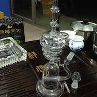Wholesale Wholesale Smoked Vases - cheap glass bong bubbler hand blown glass vase perc water percolator smoking Dabs Rig Taitanium 18.8mm Joint Glass Bongs Bubbler Glass