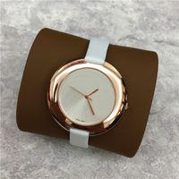 Wholesale Imitation Wristwatches - Fashion Women watch Big Dial 40mm Genuine Leather Lady Wristwatch Nobel Female Quartz Girl Dress watch Imitation Conch Classic Free shipping