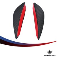 Wholesale Universal Spoilers - PQY RACING - HOT New Universal 2pcs Fit Front Bumper Lip Splitter Fins Body Spoiler Canards Valence Chin PQY-SFB01