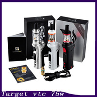Wholesale Purple Gift Boxes - Vaporesso TARGET VTC 75W Starter Kit With Ceramic cCELL Tank Coil Temperature Control Mod Gift Box 0268008