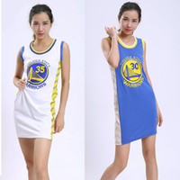 Casual Dresses blank dress shirts - Girls sexy T shirt basketball jerseys long section sleeveless vest skirt student party cheerleading dress blank version can be customized nu
