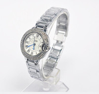 Wholesale Women S Luxury Watches - Women 's Luxury Diamond Watch Women Fashion White Ceramic Rhinestone Waterproof Diamond Lady Fashion Table Quartz Watch
