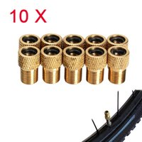 10pcs Vente Wholel / lot Presta Convertisseur de type Schrader Pompe à air de vélos Bike Valve Adaptateur Adaptateur H1E1