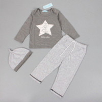 Wholesale Leaders Hat - Bear Leader 2016 Spring and Autumn baby boys girl clothes casual 3pcs (Hat + T-shirt, pants) The stars leisure baby boys clothes