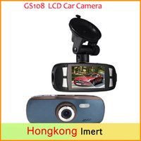 Wholesale New Car DVD DVR quot LCD Car Camera Black Box GS108 with WDR Technology AVC P FPS G Sensor Dash Cam G1W