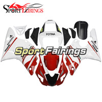 Injection Plastics Pour Yamaha YZF1000 YZF R1 98 99 1998 - 1999 ABS Carénages Moteur Full Fairing Kit Cowlings White Red